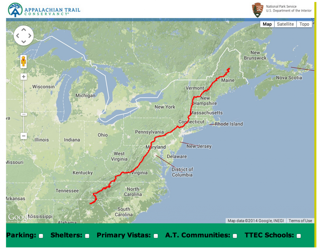 appalachian trail conservancy  greater carlisle project - map of at